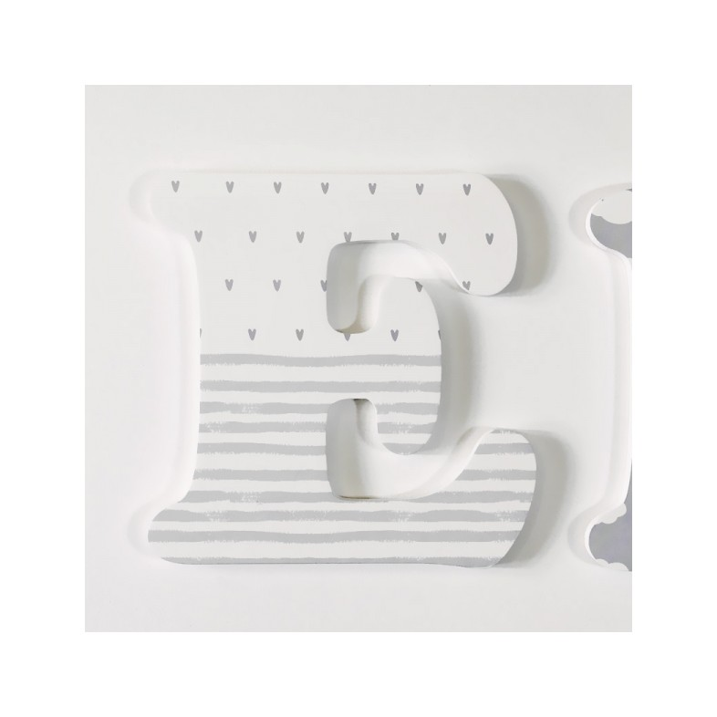 Cute Grey Nursery Letters The Wooden Company