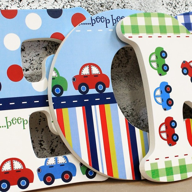 Beep Beep! Little Cars Wall Letters