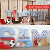 Sports Theme Patterned Wall Letters