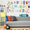 Rainbow Mix Alphabet Wooden Wall Letters Full Set