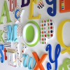 Rainbow Mix Alphabet Wooden Wall Letters Full Set