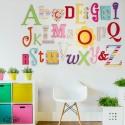 Pastel Rainbow Mix Full A-Z Alphabet Wall Set