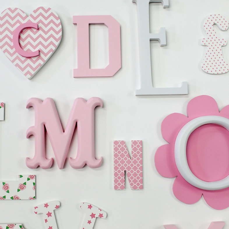 Pink Mix Full A Z Alphabet Wall Set The Wooden Letters