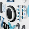 Grey, Teal, Black & Turquoise Alphabet Wooden Wall Letters Full Set