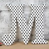 Black Paisley & Polka Wooden Wall Letters