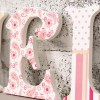 Pink Paisley Pattern Girl's Wooden Letters