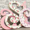 Pink & Lilac Princess Wooden Wall Letters