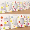 Bright Disco Spots Girl's Wooden Wall Letters