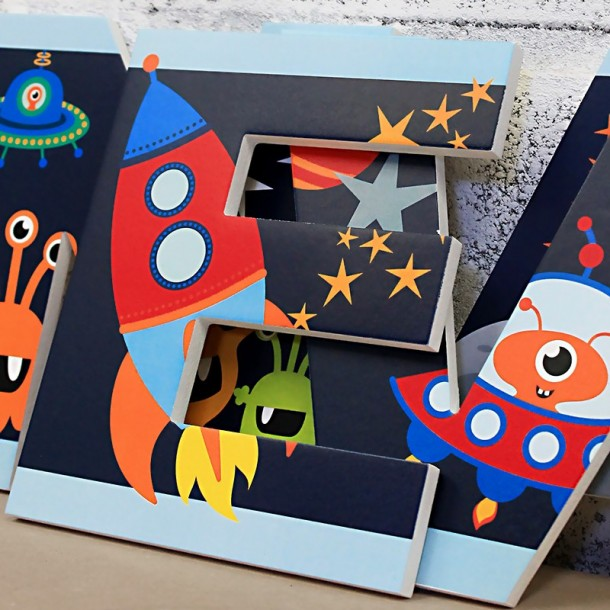 Cute Outer Space Letters
