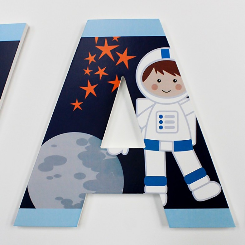 Cute Outer Space Letters The Wooden Letters Company