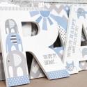 Blue & Grey Elephant Letters