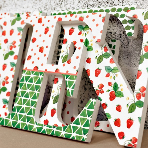 Cute Strawberries Letters