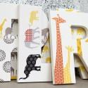 Giraffe + Elephant Letters