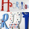 Red & Blue Eclectic Mixed font + size Letters
