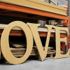 Caxton Carved GIANT Unpainted mdf letters