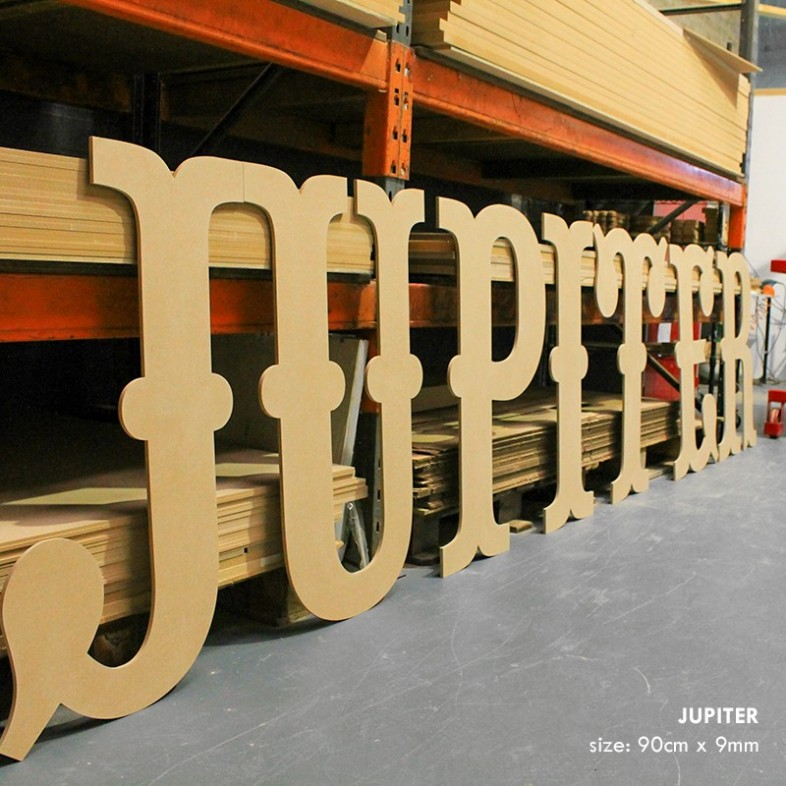 Circus Giant Unpainted Mdf Letters The Wooden Letters Company