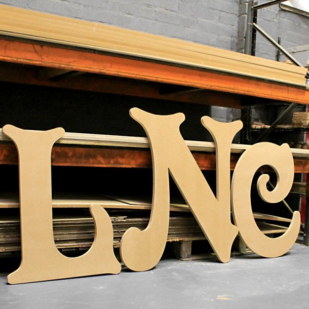 Victorian GIANT Unpainted mdf letters