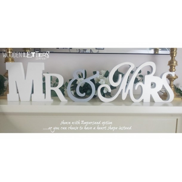 Mixed Font Mr & Mrs Wedding Letters