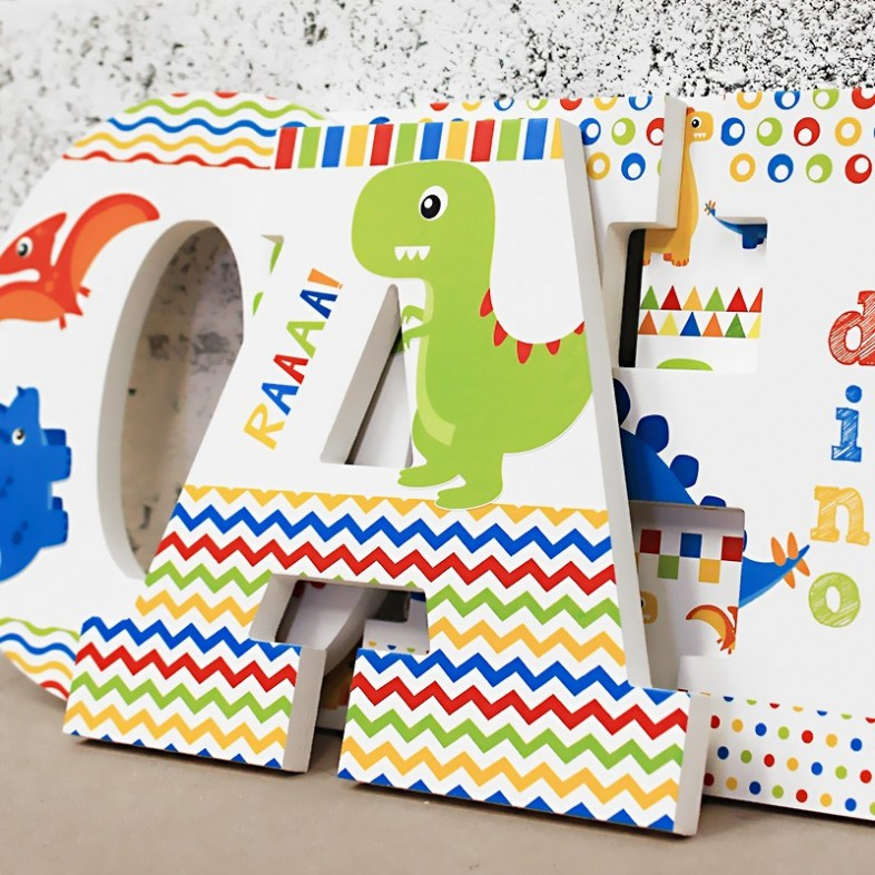 Bright Dinosaur Letters The Wooden Letters Company