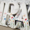 Distressed Watercolour Flowers Letters