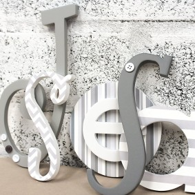 Grey Eclectic Mixed Size & Font Letters