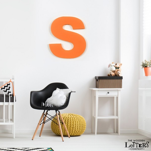 Large Orange Wall Letter