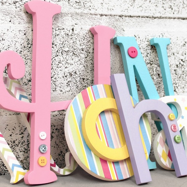 Pastel Mix Eclectic Mixed Size & Font Letters