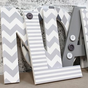 White + Grey Mix Letters