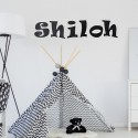 Funky Font Painted Wall Letters