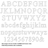 Times New Roman Letters Wooden