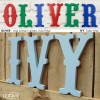 Multi Coloured Circus Style Wooden letters