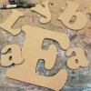 Cooper font Unpainted Mdf Wall Letters