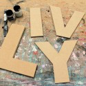 Arial Black font Unpainted Mdf Wall Letters