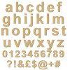 arial bold unpainted mdf letters