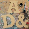 ROCKWELL mdf wooden letters unpainted