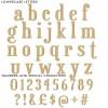 Elegant font MDF letters