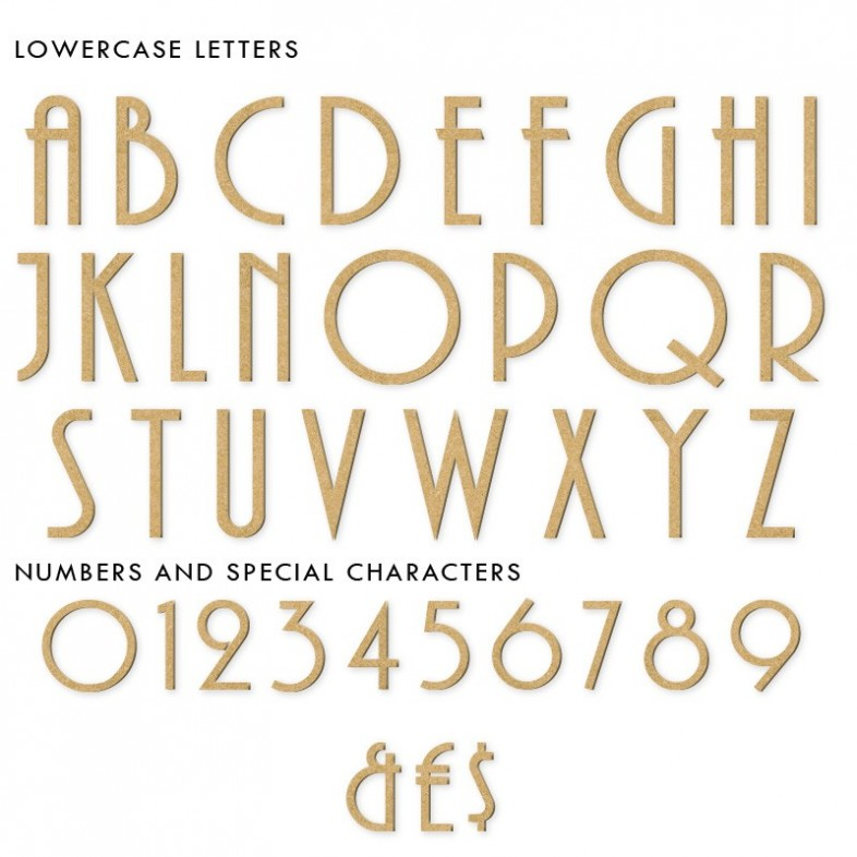 Art Deco Unpainted Mdf Wall Letters The Wooden Letters