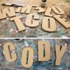 IMPACT font mdf wooden letters