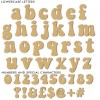 groovy retro style mdf wooden letters