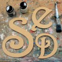 Princess Unpainted Mdf Wall Letters