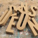 League Gothic Unpainted Mdf Wall Letters