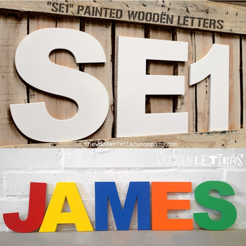 ... Arial Black Chunky Painted Letters On Wall ...