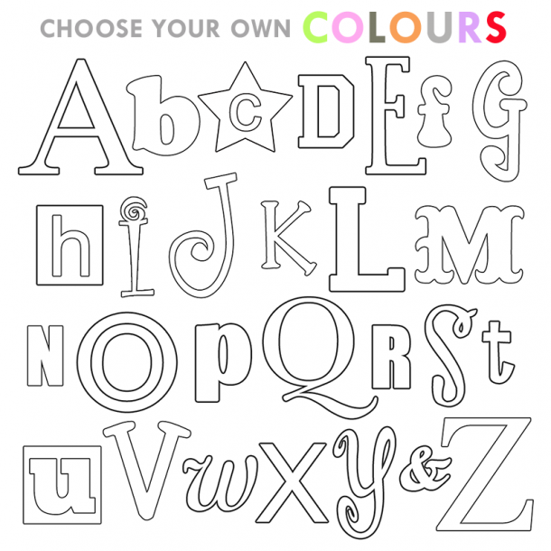 Choose your own Alphabet Letter Set