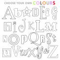 Choose your own Alphabet Letter Set