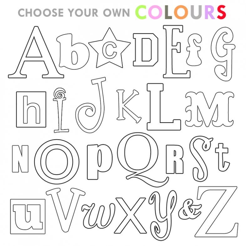 Alphabet Wooden Letter A Z Set Choose Your Own Colours