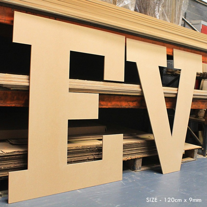 Extra Large Wooden Letters Block Font