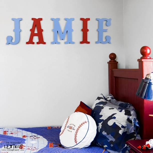Red & Blue Circus Wall Letters