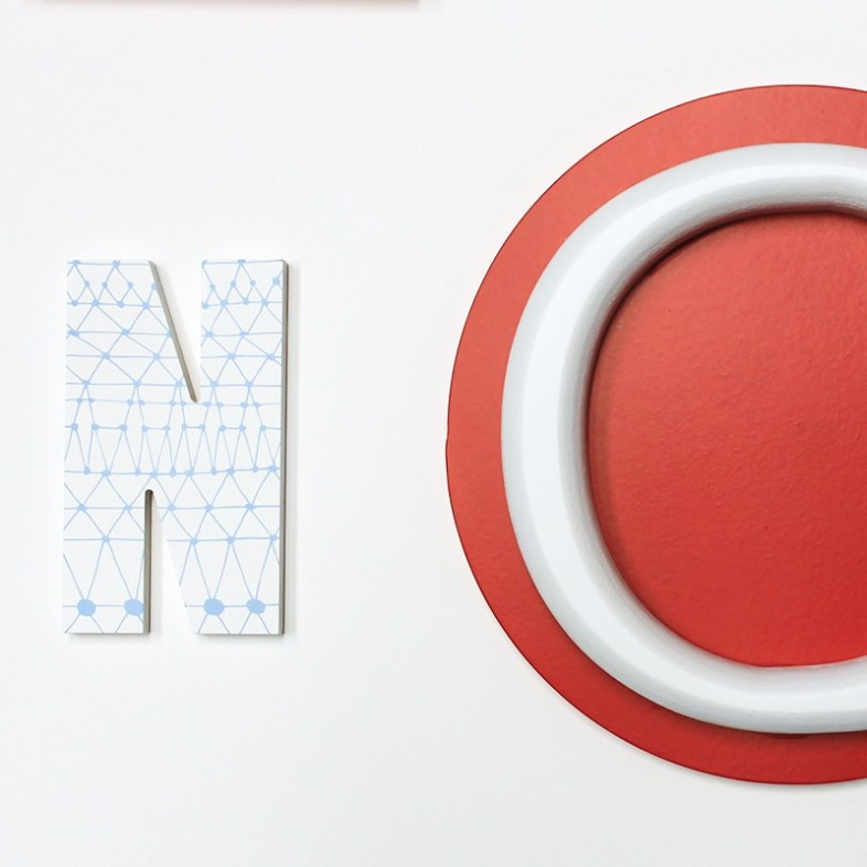 Alphabet wooden wall letters full set blue navy red for Abc wooden wall letters