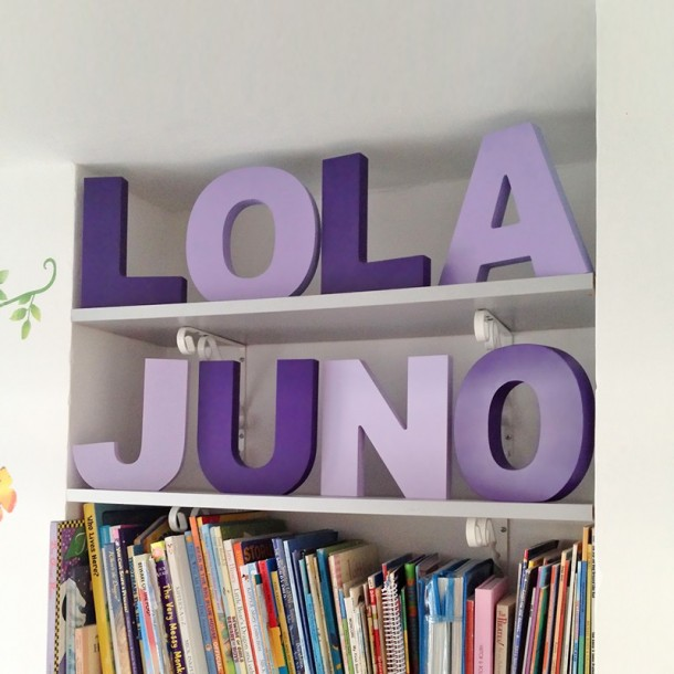 Modern Freestanding Wooden Letters - Painted
