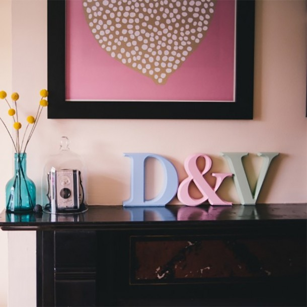 Classic Painted Freestanding Wooden Letters